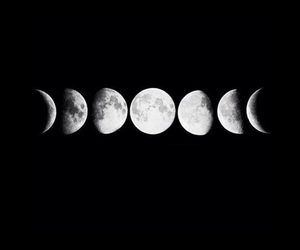 black, hipster, and moon image