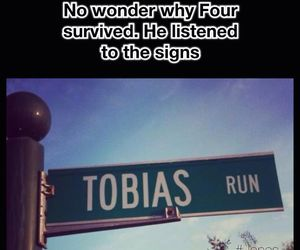 tobias, divergent, and four image