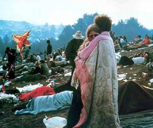 woodstock, couple, and hippie image