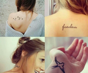 bird, tattoo, and fearless image