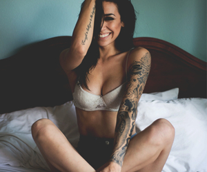 girl, happy, and pinup image