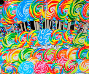 candy, colorful, and lollipops image