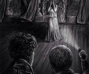 doctor who, sherlock, and weeping angels image