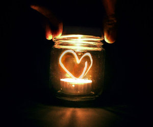 heart, light, and candle image