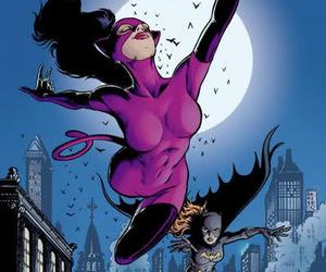 bat girl, cat woman, and comic image