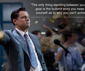 quote, goals, and wolf of wall street image