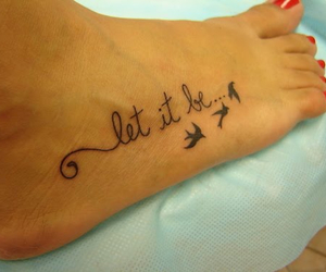 tattoo, let it be, and bird image