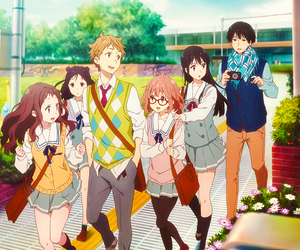 kyoukai no kanata, anime, and friends image