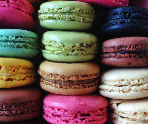 macaroons, food, and sweet image