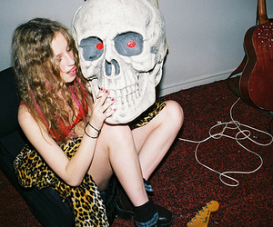 girl, skull, and indie image