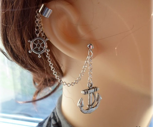 earring, fashion, and earrings image