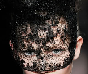 girl, lace, and mask image