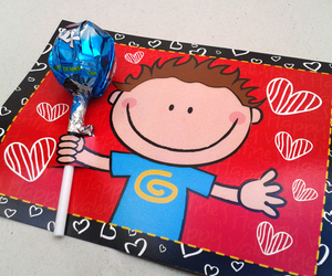 blue, candy, and gift image