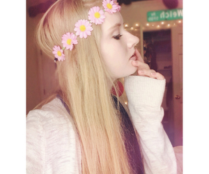 flower crown, girl, and hippie image
