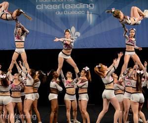 cheer, pyramide, and cheerleading image