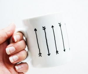 arrow, mug, and cute image