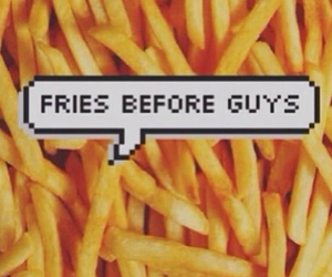 guys, fries, and food image