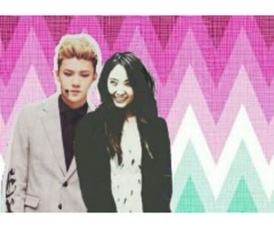 couple, exo, and fx image