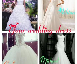 wedding, wedding dress, and luke hemmings image