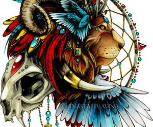 lion, tattoo, and art image