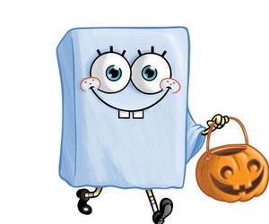 Halloween, spongebob, and ghost image