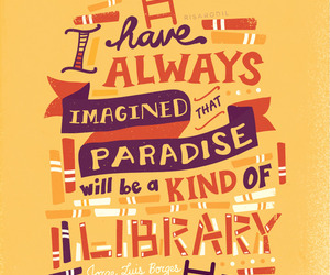 book, library, and paradise image