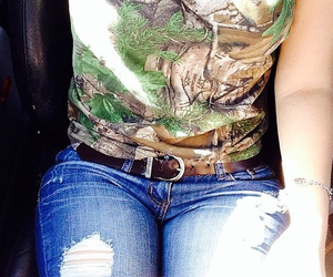 ootd country camo jeans image
