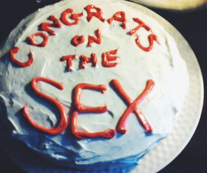 cake, congratulations, and funny image