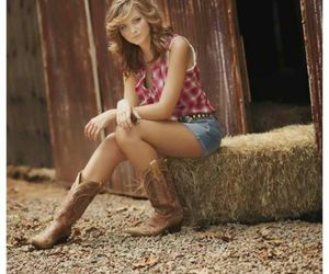 cowboy boots, daisy dukes, and country girl image