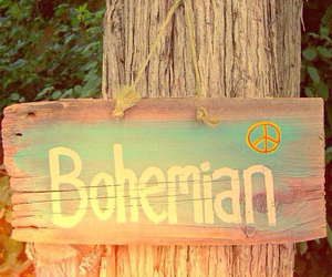 bohemian, sign, and colorful image