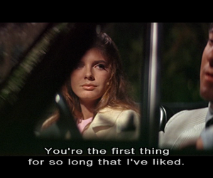 dustin hoffman, the graduate, and katherine ross image