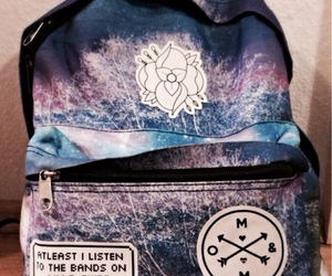 backpack, om&m, and bands image