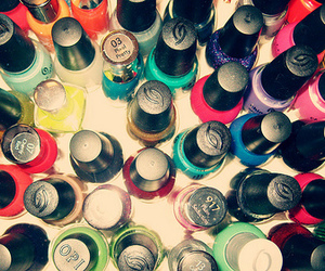 nail polish, nails, and colors image