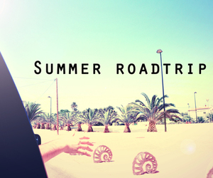summer, roadtrip, and beach image