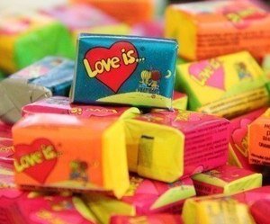 chewing gum and love image