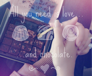 chocolate, hand, and lovequotes image