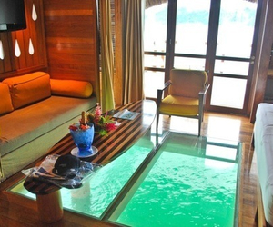 bora bora, water, and room image