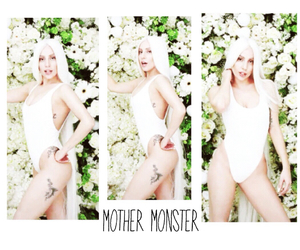 floral, girl, and Lady gaga image