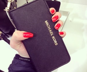 nails, Michael Kors, and red image