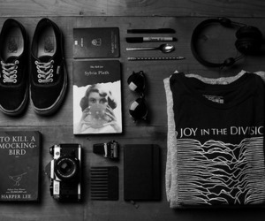 vans, black and white, and camera image