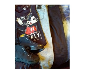 fasion, style, and mickey mouse image