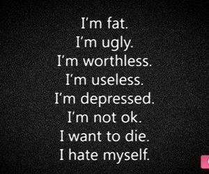 depressed, die, and fat image