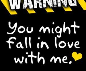 warning, love, and fall image