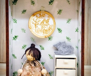 dollhouse, handmade, and toy image