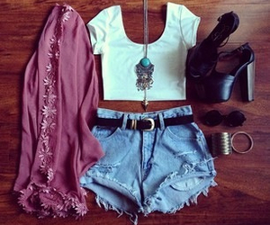 fashion, outfit, and sunglasses image