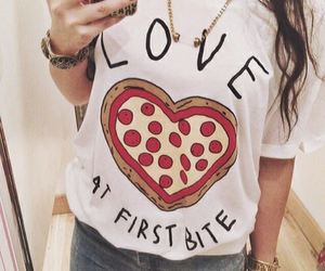 pizza, fashion, and love image