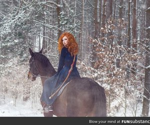 brave, disney, and horse image