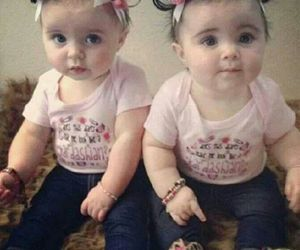 twins, baby, and cute image