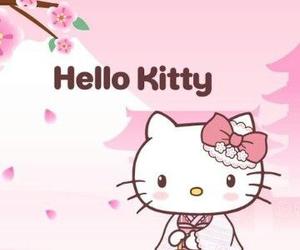 hello kitty, kimono, and sanrio image