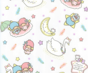 sanrio, Swan, and little twin stars image